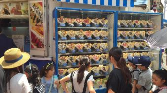 Crepes on display at Takeshita Dori